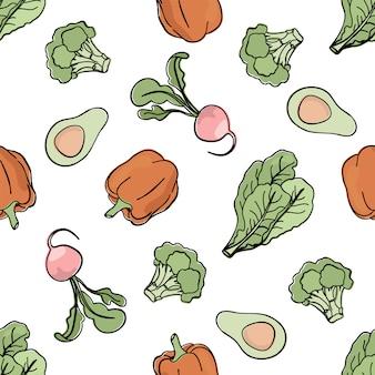 Pepper achtergrond paleo naadloos patroon