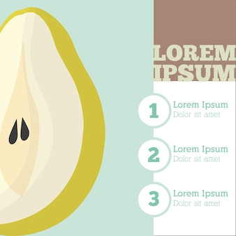 Peren fruit infrografisch ontwerp