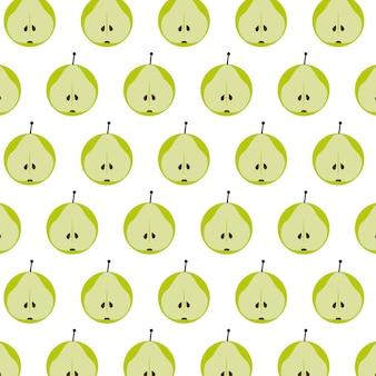 Perenfruit vector naadloze achtergrondpatronen,