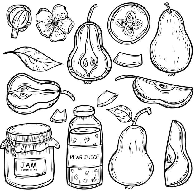 Perenschets heerlijk en gezond fruitschets