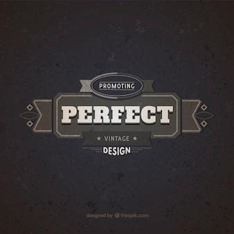 Perfect design badge