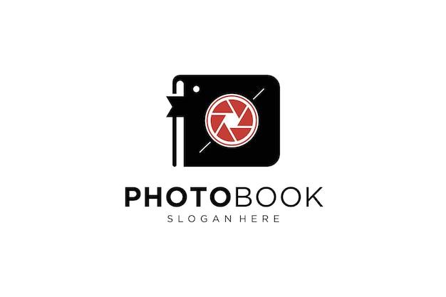 Perfect fotografie-ontwerpboeklogo op foto