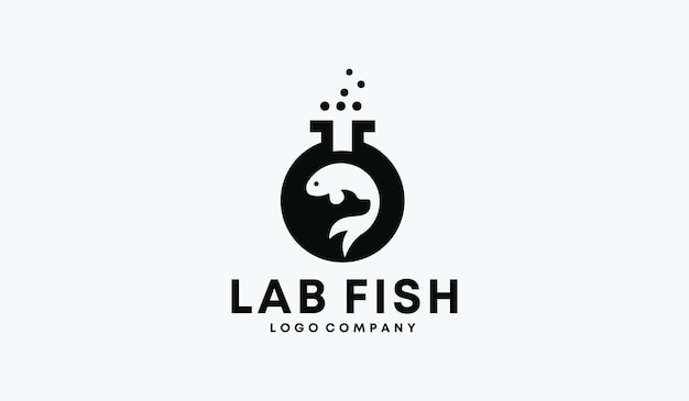 Perfect logo-ontwerp voor laboratoriumvissen