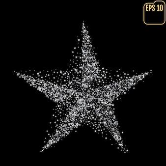Perfecte vijfpuntige zilveren ster