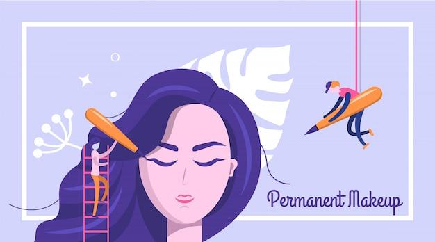 Permanente make-up banner achtergrond
