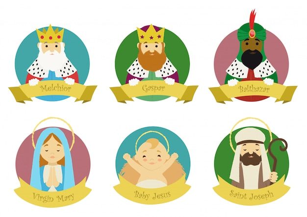 Personages uit de kerststal