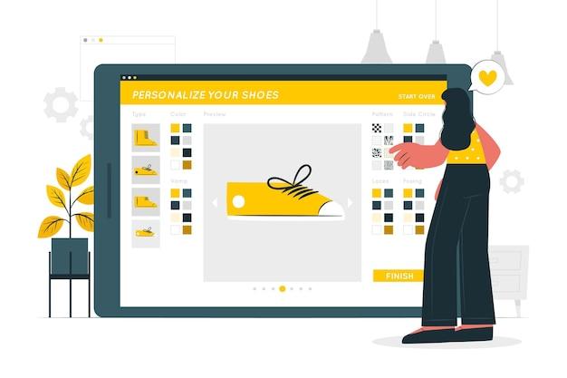 Personalisatie concept illustratie