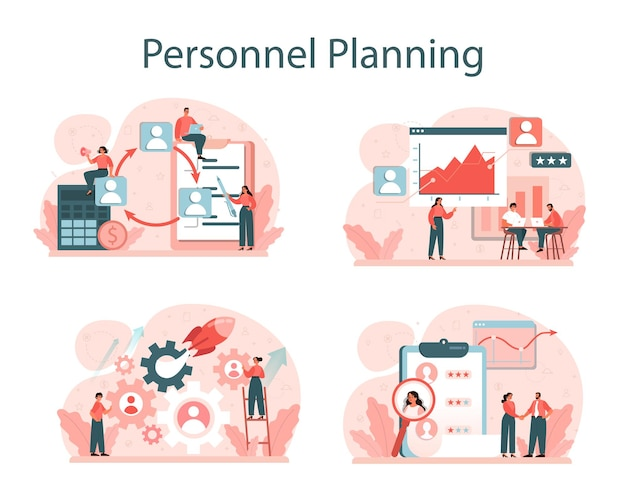 Personeel planning concept set