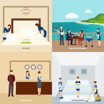 Personeel van het hotel