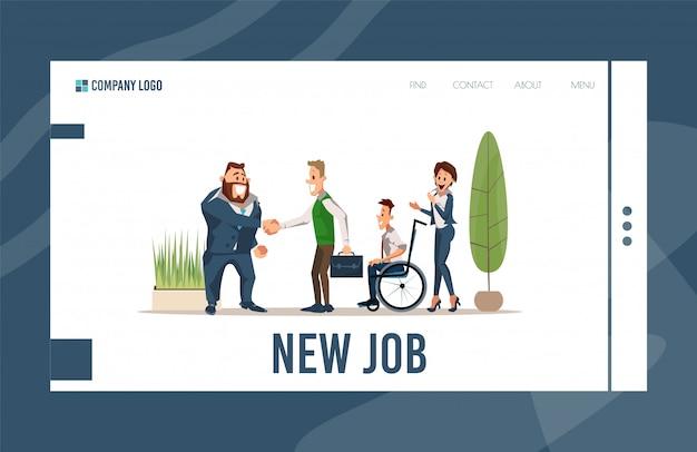 Personeelswerving service platte webpagina
