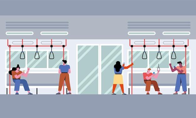 Personen in de metro
