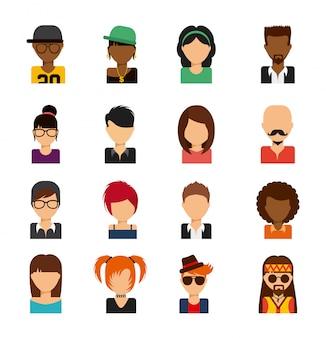 Persoon avatars