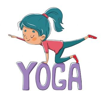 Persoon die yoga of pilates doet