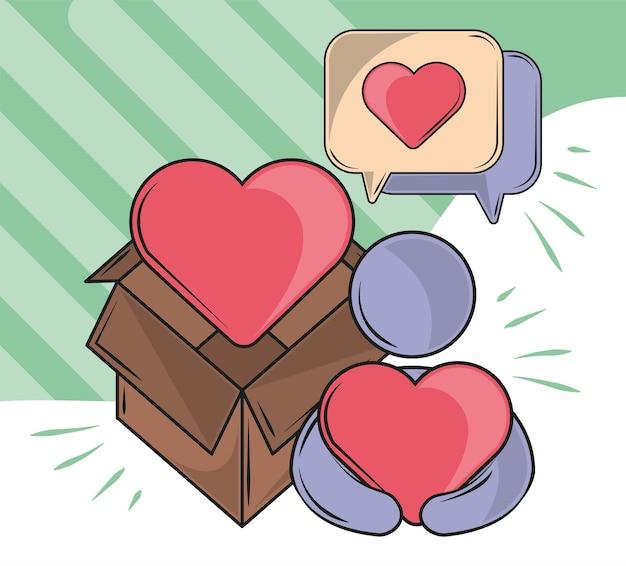 Persoon liefde zorg