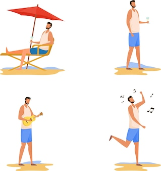 Persoon op het strand