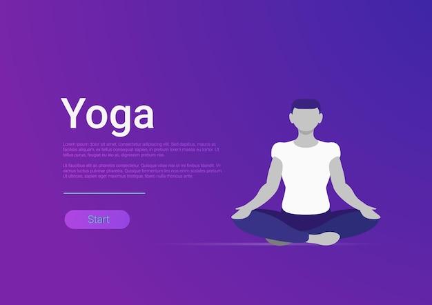 Persoon op meditatie lotushouding