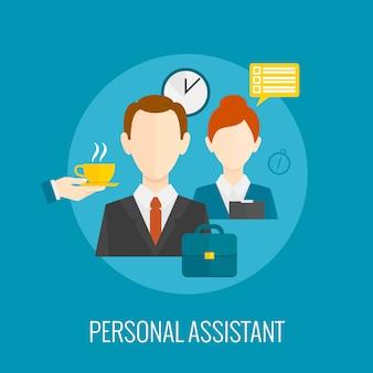 Persoonlijk assistent-pictogram