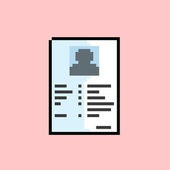 Persoonlijk document met pixelart-stijl