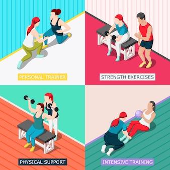 Persoonlijk sport trainer concept