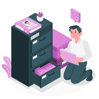 Persoonlijke bestanden concept illustratie