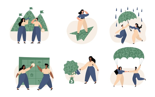 Persoonlijke financiën, geld sparen, investeringen, persoonlijk kapitaal, doelen, verzekeringen