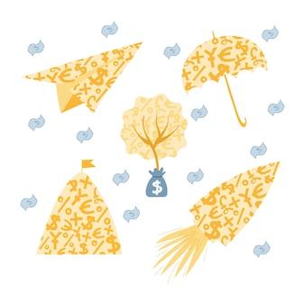 Persoonlijke financiën, geld sparen, noodfonds, investeringen
