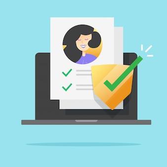 Persoonlijke gegevens beveiliging check pictogram