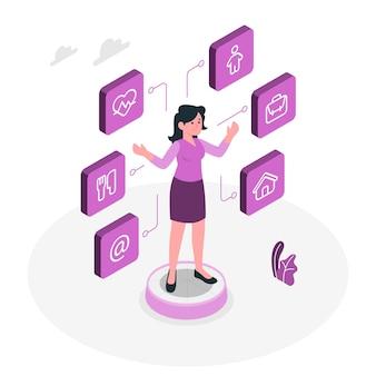 Persoonlijke gegevens concept illustratie