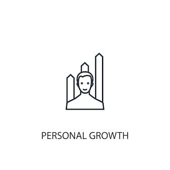 Persoonlijke groei concept lijn icoon. eenvoudige elementenillustratie. persoonlijke groei concept schets symbool ontwerp. kan worden gebruikt voor web- en mobiele ui/ux