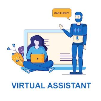 Persoonlijke hulp van virtual assistant.