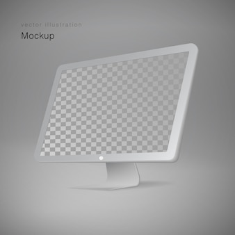 Persoonlijke professionele desktopcomputer, pc. moderne flatscreen monitor