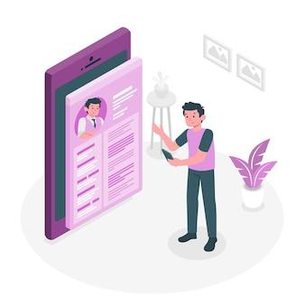 Persoonlijke site concept illustratie