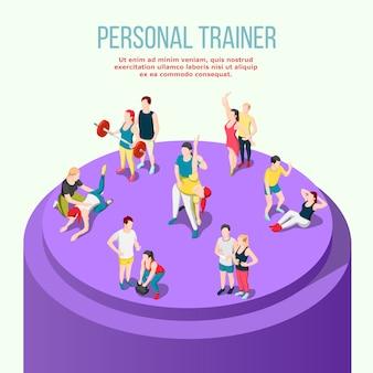 Persoonlijke trainer isometrisch
