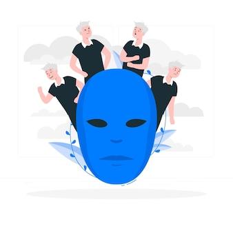 Persoonlijkheidsstoornis concept illustratie