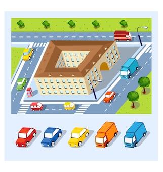 Perspectief van de stedelijke buurten
