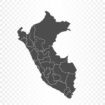 Peru kaart geïsoleerde weergave