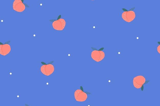 Perzik achtergrond bureaubladachtergrond, schattige vector