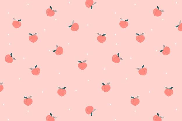 Perzik achtergrond vector, schattige desktop wallpaper