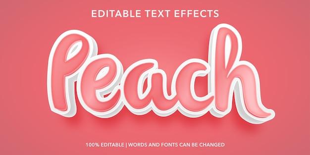 Perzik bewerkbaar teksteffect
