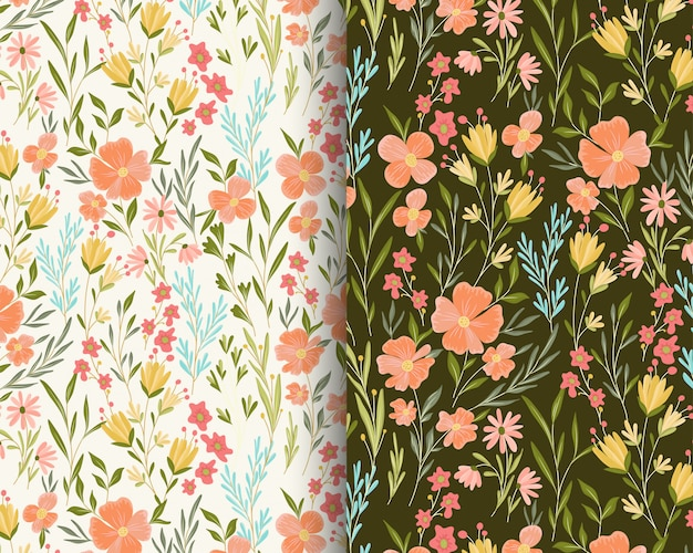 Perzik bloemen tuin patroon