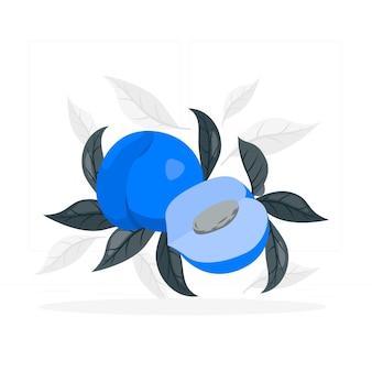 Perzik concept illustratie