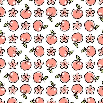 Perzik naadloos patroon