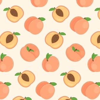 Perzik patroon ontwerp