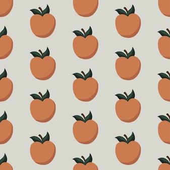 Perzikpatroon achtergrond social media post fruit vector illustration