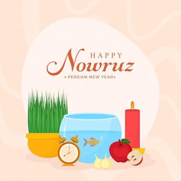 Perzisch nieuwjaar happy nowruz achtergrond.
