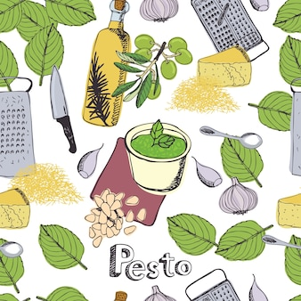 Pesto achtergrond