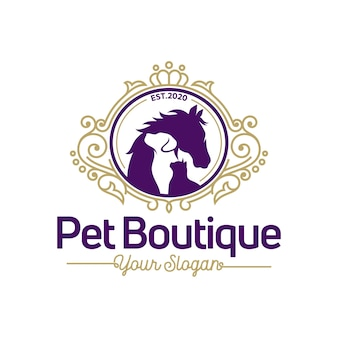 Pet boutique logo sjabloon
