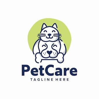 Pet care logo sjabloon