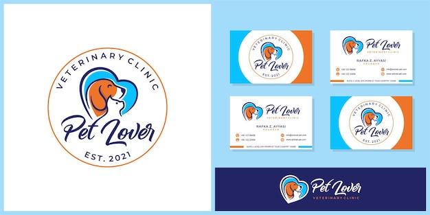 Pet lover logo sjabloon