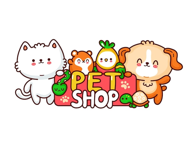 Pet shop logo ontwerp